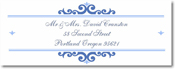 Name Doodles - Rectangle Address Labels/Stickers (Bellingham Blue)